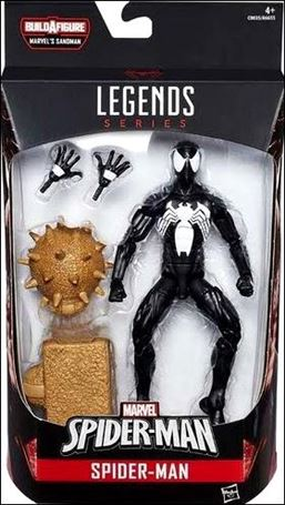 Marvel Legends Series: Spider-Man (Sandman Series) Spider-Man (Black Costume)