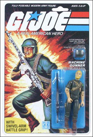 "G.I. Joe: A Real American Hero 3 3/4"" Basic Action Figures Rock 'N Roll (Machine Gunner) Swivel Arm by Hasbro"