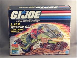"G.I. Joe: A Real American Hero 3 3/4"" Basic Vehicles and Playsets L.C.V Recon Sled (Low Crawl Vehicle)"