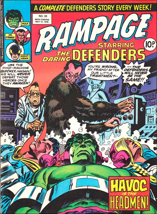 Rampage Weekly (UK) 33-A by Marvel UK