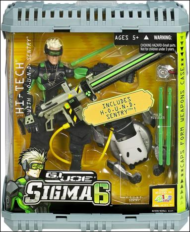 G.I. Joe: SIGMA 6 (Commando Assortment) Hi-Tech with H.O.U.N.D. Sentry by Hasbro