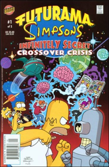 Futurama/Simpsons Infinitely Secret Crossover Crisis 1-A by Bongo