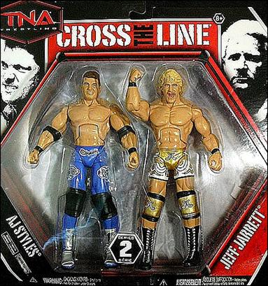 TNA Wrestling: Cross the Line 2-Packs (Series 2)  AJ Styles and Jeff Jarrett by Jakks Pacific