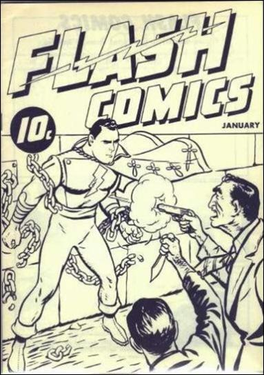 Flash Comics (1940) 1-A by Fawcett