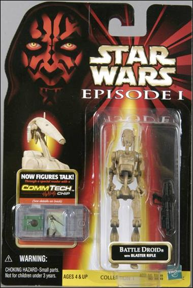 "Star Wars: Episode I 3 3/4"" Basic Action Figures Battle Droid (Dirty) (No Logos) by Hasbro"