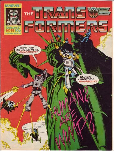 Transformers (UK) 95-A by Marvel UK