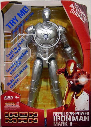 "Iron Man (Movie) 12"" Figures Repulsor Power Iron Man (Mark II) by Hasbro"