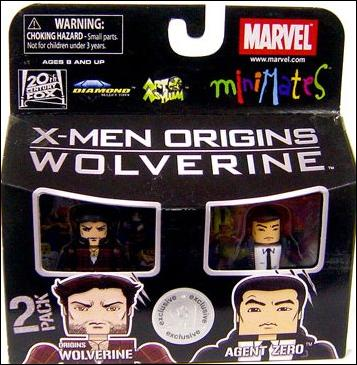Marvel Minimates (Exclusives) Origins Wolverine and Agent Zero by Diamond Select