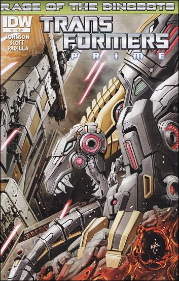 Transformers Prime: Rage of the Dinobots 2-A by IDW