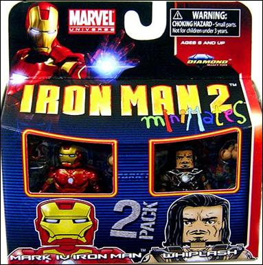Marvel Minimates Mark IV Iron Man and Whiplash by Diamond Select