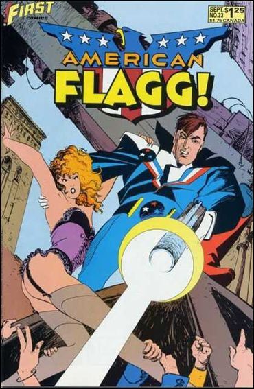 American Flagg! (1983) 33-A by First