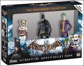Arkham Asylum Box Set Batman-The Joker-Harley Quinn 3-pack by DC Direct
