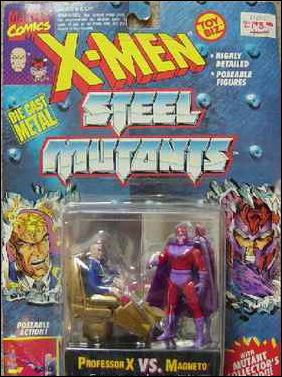 X-Men Steel Mutants (2-Packs) Professor X vs Magneto by Toy Biz