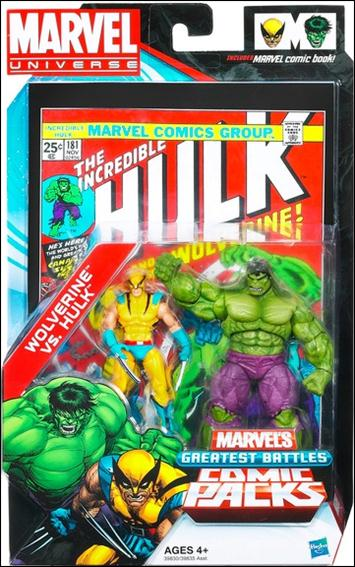Marvel Universe: Marvel's Greatest Battles (Comic-Packs) Wolverine vs Hulk by Hasbro