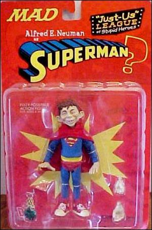 Just-Us League of Stupid Heroes Alfred E. Neuman as Superman by DC Direct