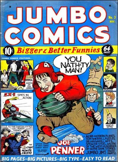 Jumbo Comics (1938) 3-A by Fiction House Magazines
