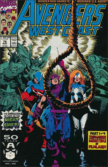 Avengers West Coast 76-A by Marvel