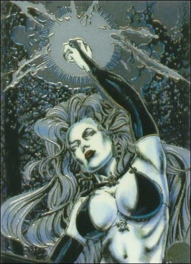 Lady Death All Chromium (Base Set) 51-A by Krome Productions