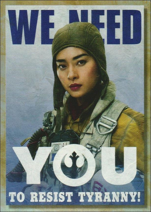 Star Wars Galaxy 2018 (New Trilogy Propaganda Subset) TP-3-A by Topps
