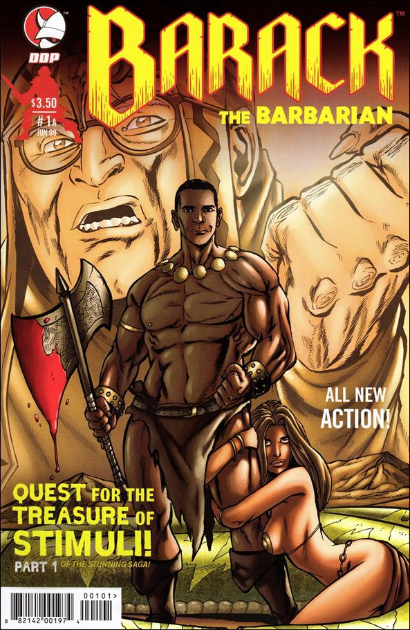 Barack the Barbarian: Quest for the Treasure of Stimuli  1-A by Devil's Due