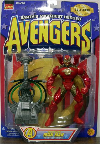 Avengers (1997) Heroes Reborn Iron Man (w/ Power Converter) by Toy Biz