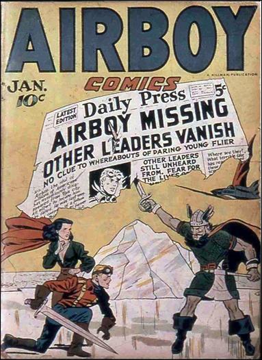 Airboy Comics (1946) 12-A by Hillman