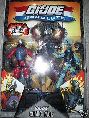 G.I. Joe 25th Anniversary Comic Packs Resolute Destro and Shockblast  by Hasbro