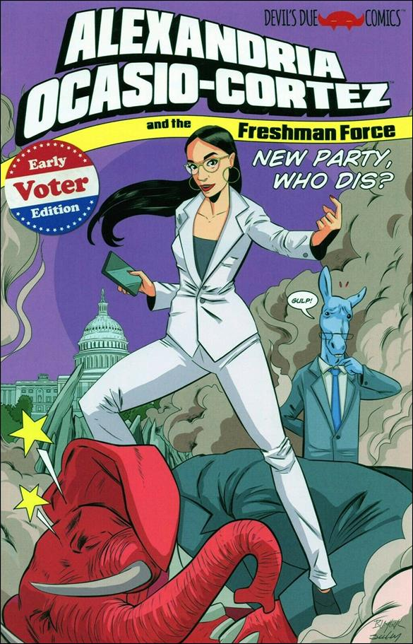 Alexandria Ocasio-Cortez and the Freshman Force: New Party, Who Dis? 1-B by Devils Due / 1First Comics