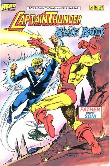 Captain Thunder and Blue Bolt (1987) 2-A by Hero Comics