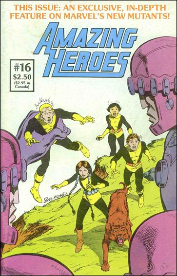 Amazing Heroes 16-A by Fantagraphics