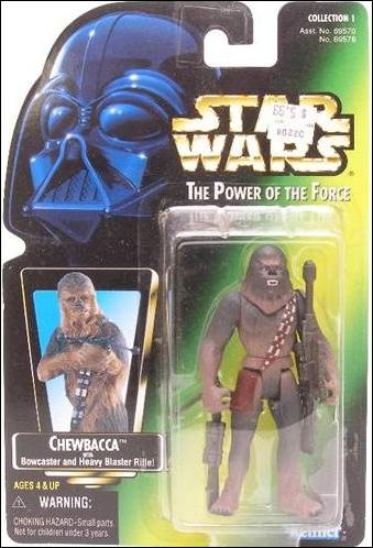 "Star Wars: The Power of the Force 2 3 3/4"" Basic Action Figures Chewbacca (Green Card) by Kenner"