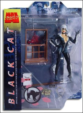 Marvel Select Black Cat w/ wall-crawling Spider-Man  by Diamond Select