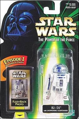 "Star Wars: The Power of the Force 2 3 3/4"" Basic Action Figures R2-D2 w/ Flashback Card (3/4 View Packaging)"