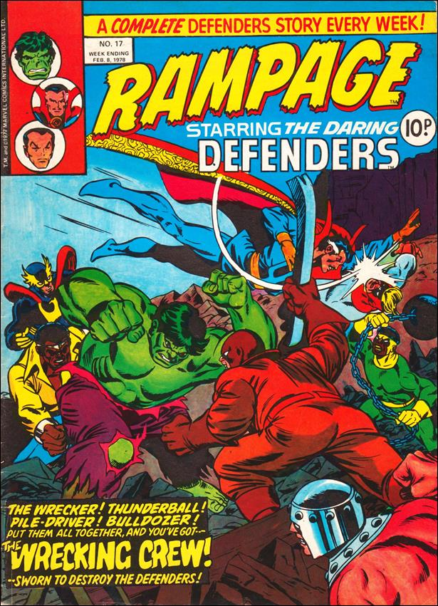 Rampage Weekly (UK) 17-A by Marvel UK