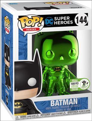 POP! Heroes Batman (Green Chrome) ECCC 2018