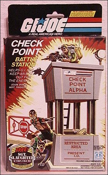 "G.I. Joe: A Real American Hero 3 3/4"" Basic Vehicles and Playsets Check Point Battle Station by Hasbro"