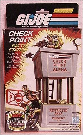 """G.I. Joe: A Real American Hero 3 3/4"""" Basic Vehicles and Playsets Check Point Battle Station"""