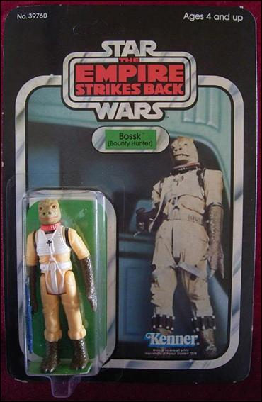 "Star Wars 3 3/4"" Basic Action Figures (Vintage) Bossk (Bounty Hunter) (ESB 31 Back) by Kenner"