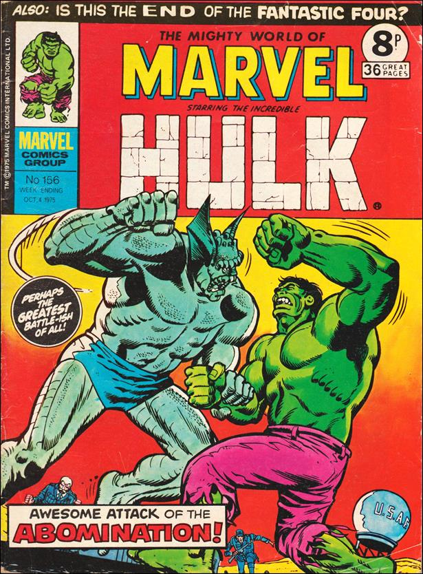 Mighty World of Marvel (UK) (1972) 156-A by Marvel UK