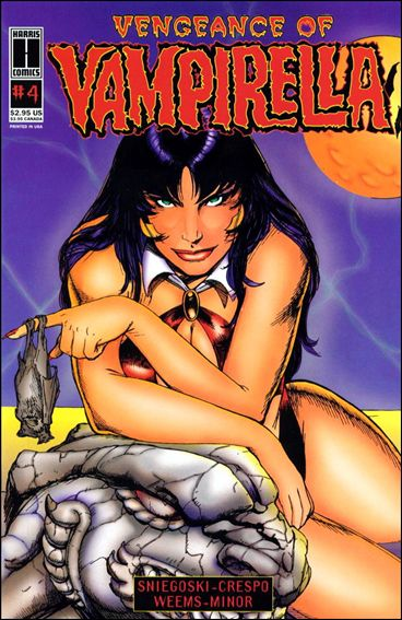 Vengeance of Vampirella 4-A by Harris