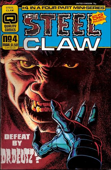 Steel Claw 4-A by Quality Comics