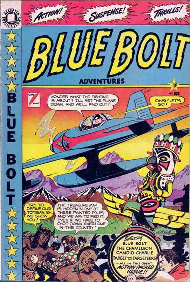 Blue Bolt Comics 103-A by Star Publications