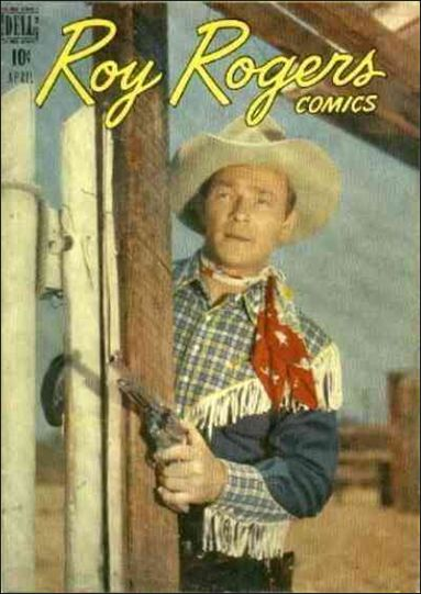 Roy Rogers Comics 4-A by Dell