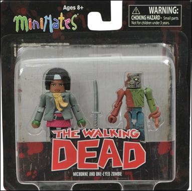 Walking Dead Minimates Michonne and One-Eyed Zombie by Diamond Select