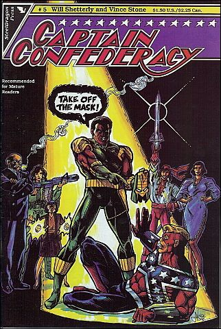 Captain Confederacy (1986) 5-A by SteelDragon Press