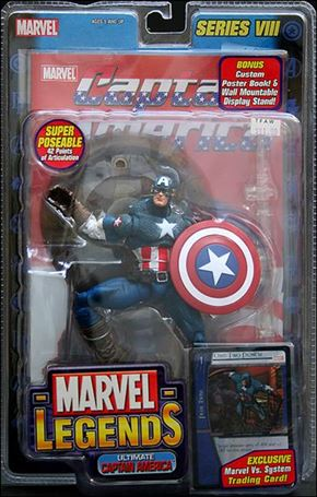 Marvel Legends (Series 8) Ultimate Captain America (Blue Pants - No Wings)