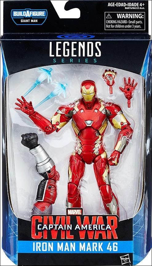 Marvel Legends Series: Captain America (Giant Man Series)  Iron Man Mark 46 by Hasbro