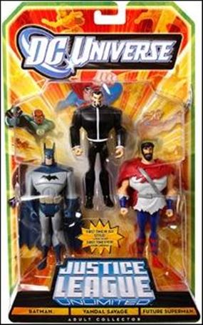 DC Universe: Justice League Unlimited - Fan Collection (3-Packs) Batman / Vandal Savage / Future Superman