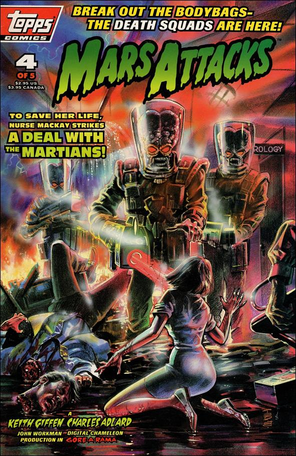Mars Attacks (1994) 4-A by Topps
