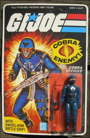 "G.I. Joe: A Real American Hero 3 3/4"" Basic Action Figures Cobra Officer (The Enemy) - Swivel Arm by Hasbro"